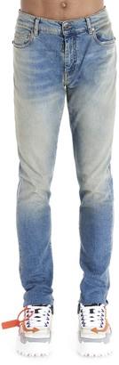 Off-White Logo Printed Skinny Jeans