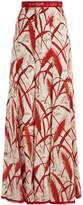 Andrew Gn Rye-print silk-georgette skirt