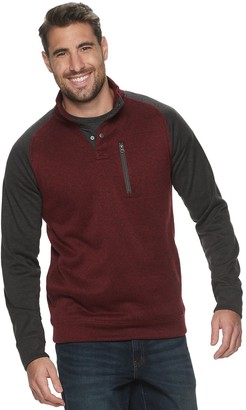 Sonoma Goods For Life Big & Tall Supersoft Button Mockneck Sweater Fleece Pullover