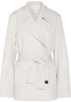 Lemaire Cotton-blend Poplin Trench Coat - Light gray