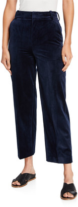 Vince Cropped Velvet Trousers