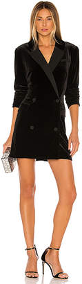 1 STATE Ruched Velvet Blazer Dress