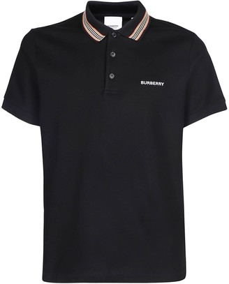 Burberry Logo Stripe Detailed Polo Shirt
