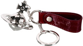 Vivienne Westwood Accessories Red Patent Orb Keyring