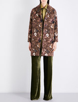 Etro Floral-patterned wool-blend coat
