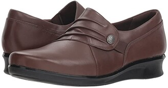 Clarks Hope Roxanne (Brown Leather) Women's Shoes