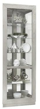 Bronx Ivy Yuriko Asymmetrical 2 Door Lighted Corner Curio Cabinet Ivy