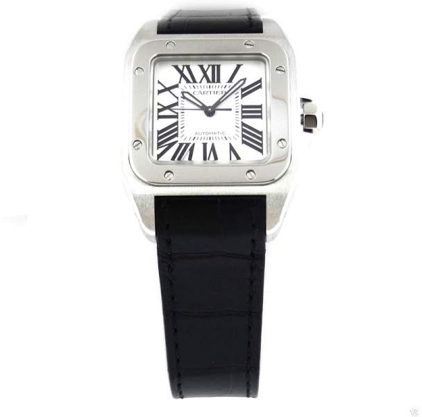 Cartier Santos 100 w20106x8 Midsize Automatic Stainless Steel Watch
