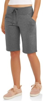 "Athletic Works Women's Athleisure Dri More Core Active 12"" Bermuda Shorts"