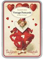 Cavallini & Co. Vintage Valentine Glitter Greetings, 12-Assorted Postcards