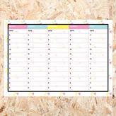 Veronica Dearly Weekly Schedule Desk Planner