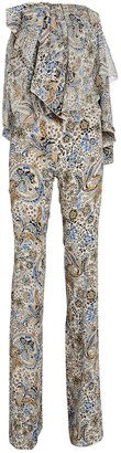 Redemption Strapless Paisley Jumpsuit