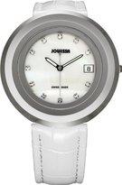 Jowissa Women's J7.006.L Ginebra Stainless Steel Black Dial Chronograph Alarm Date Watch