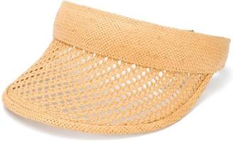 Gucci Woven-Design Visor Hat