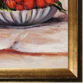 Overstockart 25'' x 29'' ''Strawberries'' Framed Canvas Wall Art by Pierre Auguste Renoir