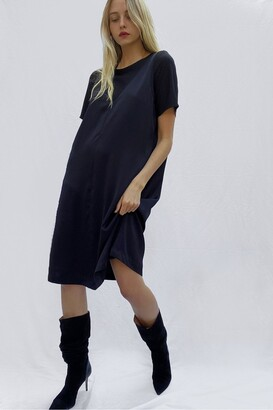 French Connection Zoewe Crepe Mix Layered Dress
