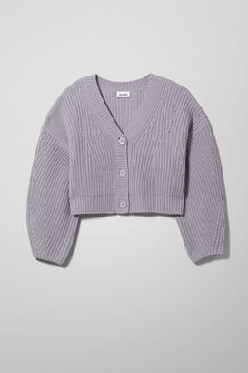 Weekday Eli Cardigan - Purple