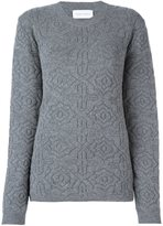 Christian Wijnants patterned knit sweater - women - Virgin Wool/Cashmere/Polyamide/Spandex/Elastane - S
