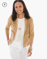 Chico's Faux-Suede Perforated Jacket