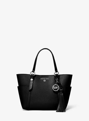 MICHAEL Michael Kors MK Nomad Small Saffiano Leather Tote Bag - Black/grey - Michael Kors