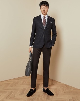 Ted Baker Tight Lines Check Wool Blazer