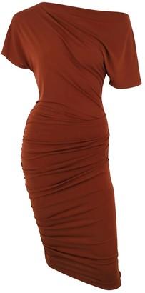 Me&Thee Dab Hand Ginger Drop Shoulder Dress
