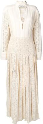 Philosophy di Lorenzo Serafini pleated lace dress