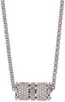 Fossil Pave Crystal Rondelle Pendant Necklace
