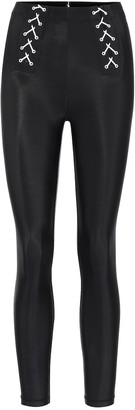 Adam Selman Sport Lace-up high-rise leggings