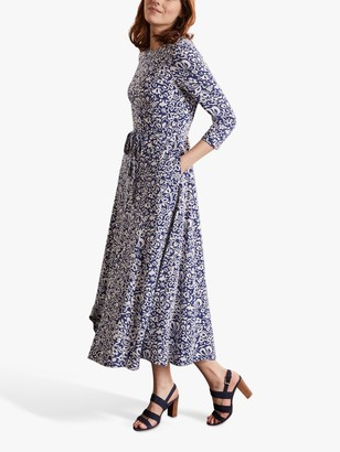 Boden Adora Floral Midi Dress, Blue Depths