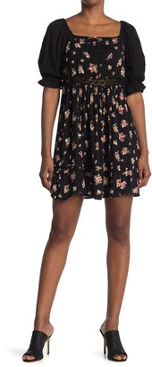 Angie Floral Lace Inset Dress