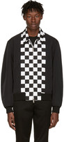 DSQUARED2 Black Checkerboard Bomber Jacket