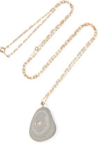 Cvc Stones Sol De Mayo 18-karat Gold, Stone And Diamond Necklace - one size
