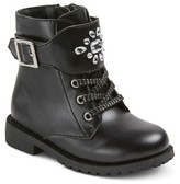 Cat & Jack Toddler Girls' Mandy Jeweled Lace Up Boots Cat & Jack - Black