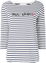 Chinti and Parker striped slogan top