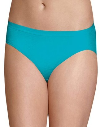 Fruit of the Loom Women's Breathable Micro-Mesh Bikini Underwear, 6 Pack, Size 5