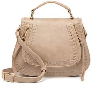 Urban Expressions Vegan Leather Braided Saddle Bag