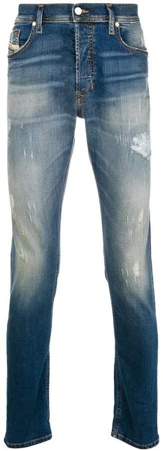 Diesel washed leg distressed jeans
