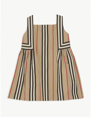 Burberry Astrid Icon stripe-print cotton dress 6-24 months