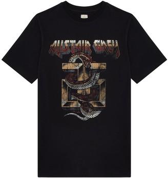Alistair Grey Snake & Logo T-Shirt