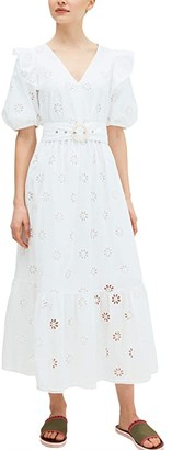 Kate Spade Spade Clover Eyelet Dress (Fresh White) Women's Dress