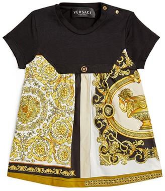 Versace Kids Baroque Mosaic Print Dress (6-36 Months)