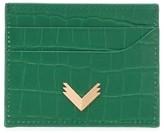 Manokhi crocodile embossed cardholder