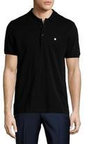 Fendi M Solid Spread Collar Polo