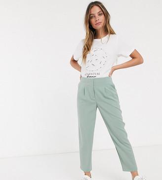 Miss Selfridge Petite tailored trousers in sage