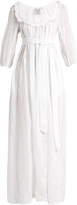 Thierry Colson Rosine embroidered cotton-lawn maxi dress