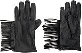 Maison Scotch Leather Fringe Gloves