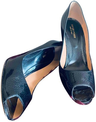 Sergio Rossi Black Patent leather Heels