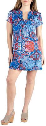 24/7 Comfort Apparel 24/7 Comfort Square Neck Shortsleeve Dress-Maternity