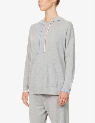 Chinti and Parker Marl-pattern cashmere hoody